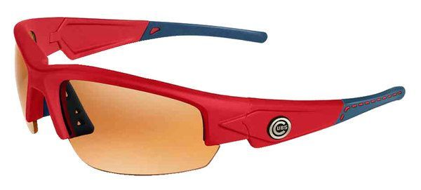 Maxx HD MLB Dynasty Chicago Cubs Sunglasses Red W/ Blue Tips Red Stitch Max-Cubs