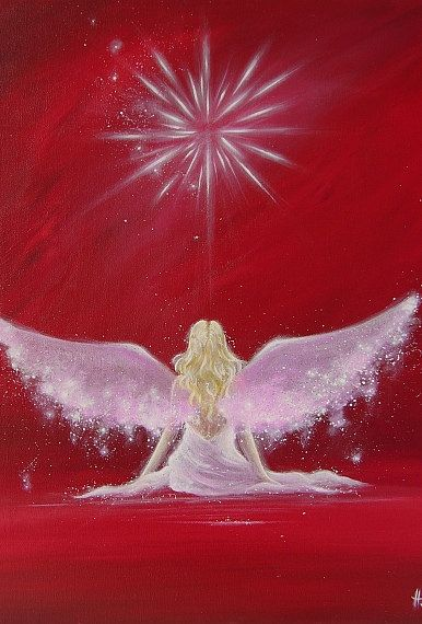 Limited angel art photo encounter abstract angel von HenriettesART