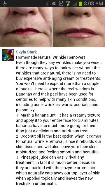 Homemade natural wrinkle remover