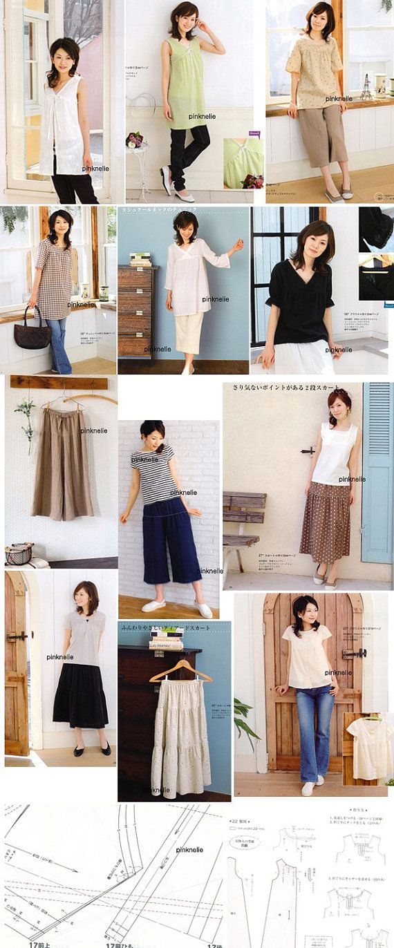 Gorgeous! From Japanese pattern book: Simple  Easy Double Gauze Clothes