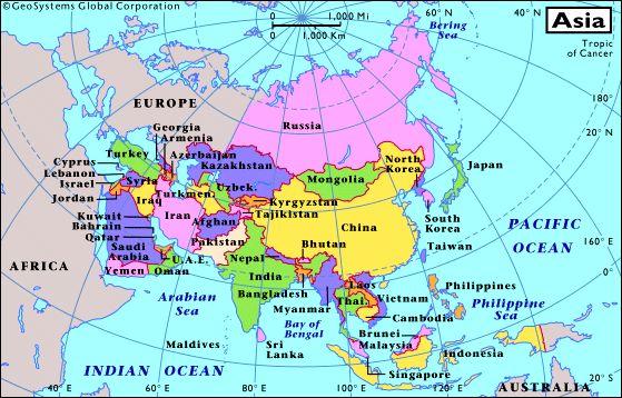 Asia Map Capitals