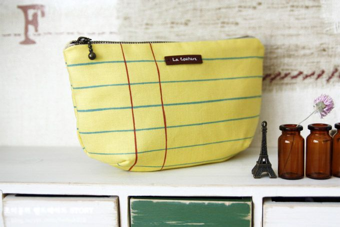 Cosmetic Pouch Bag Tutorial