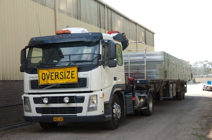 A truck loaded with prefabricated floor frames leaves our factory near Mittagong NSW.
