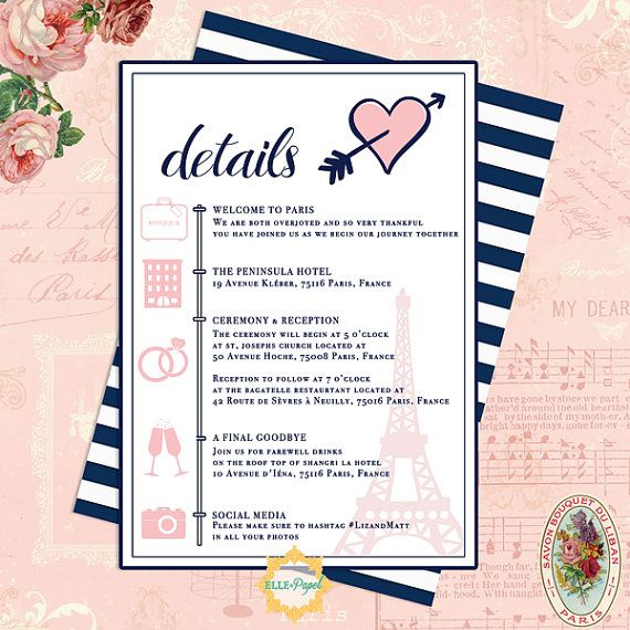 17 Best Images About Wedding Itinerary On Pinterest