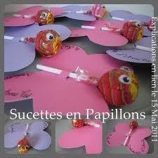 Cadeau d'invité et/ou bricolage de papillons