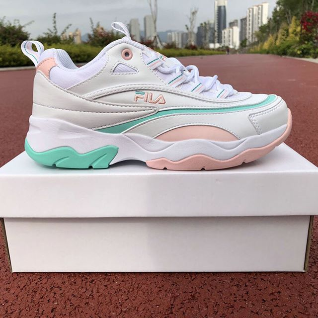 new concept f4476 b0e05 Folder X Fila Ray White Pink Mint ☆  Pinterest  WhoIsAnastasiia  ☆
