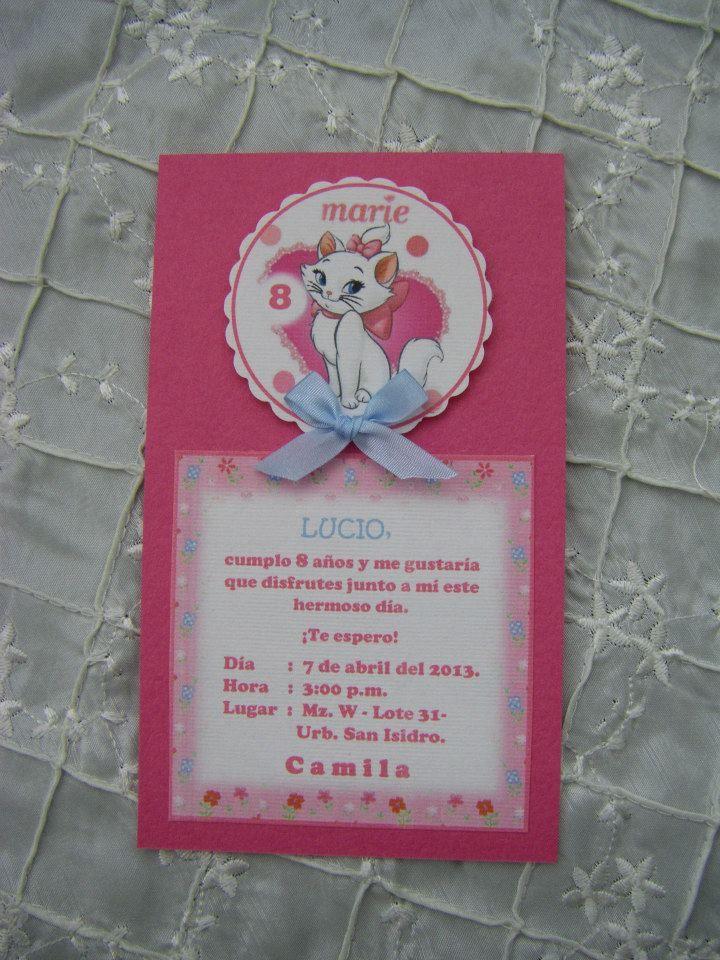 Tarjeta De Invitaci 243 N De Cumplea 241 Os Con El Detalle De