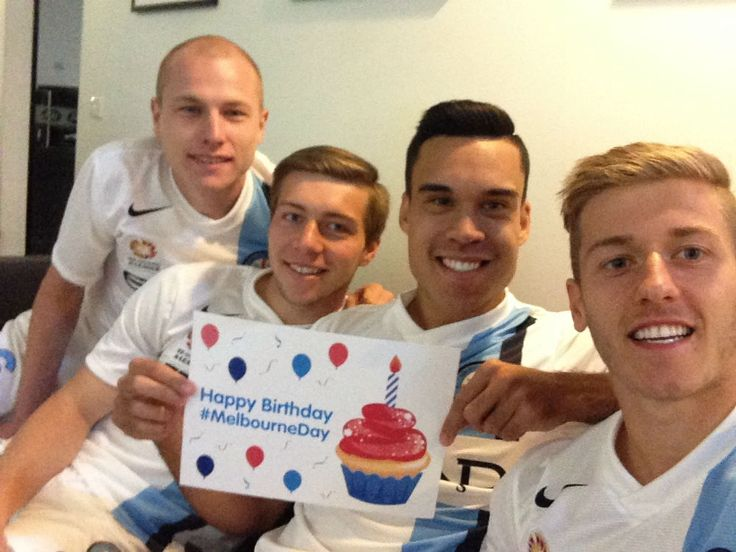 Melbourne City FC players. Greet players and visit the club's marquee at Fed Sq on MelbourneDay. #MelbourneDay