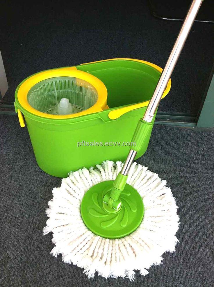 Spin Mop Magic Mop   Cleaner Bucket   2 Mop Heads (Blue) | Lazada ...