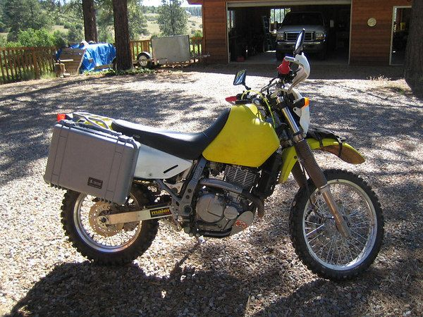 17 best images about dr650 flat tracker bali and dr650 saddlebag setups advrider
