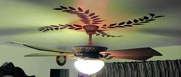 """SO much easier than hand painting!  This is just good """"felt"""" with spray glue on the back & stuck to the ceiling!  My head is spinning with possible ideers...  Photo by Mark W. Patterson"""