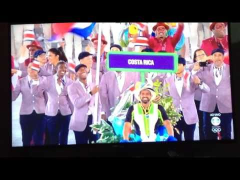 Desfile dos Atletas Países de Coreia a Cuba. Olimpíadas Rio 2016. Maracanã.