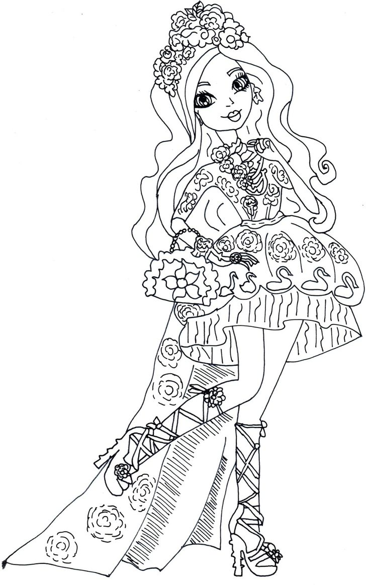 free printable ever after high coloring pages briar beauty - Ever After High Coloring Book
