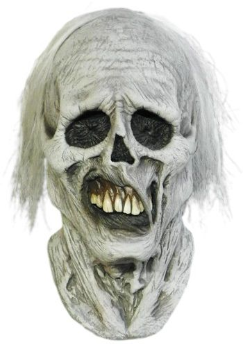 Some people have access to an award winning makeup artist transform them into a gruesome zombie. For the rest of us, there is this chiller zombie mask.