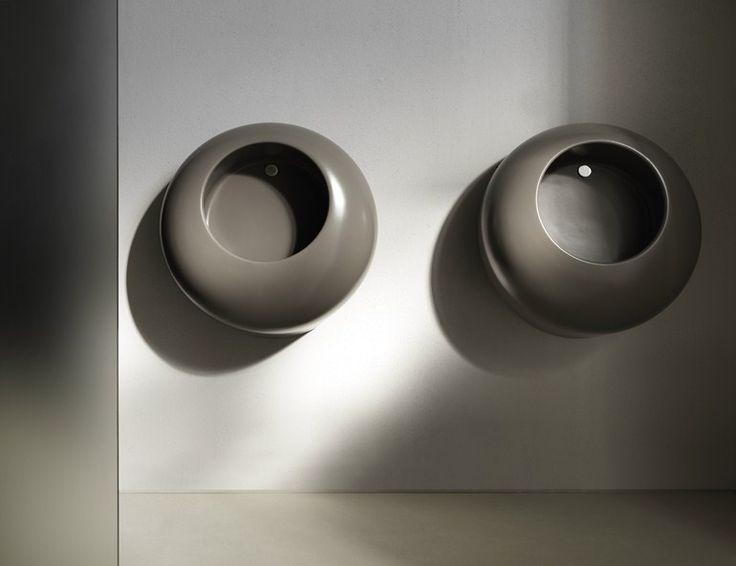 Urinals yep thats right, Urinals!   Suspended ceramic Urinal BALL Urinals Collection by Ceramica Cielo | design 5.5 designstudio