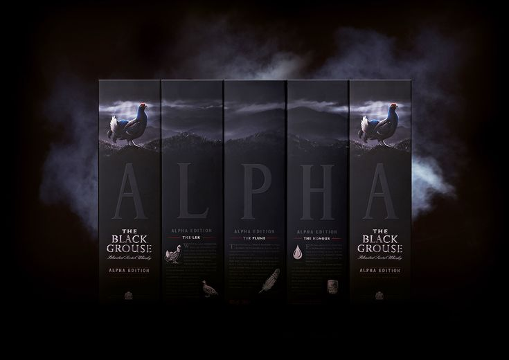The Famous Grouse works with Taxi Studio on The Black Grouse Alpha Edition packaging