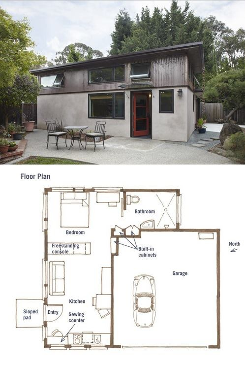 193 best images about in law suite plans on pinterest for Garage with granny flat on top