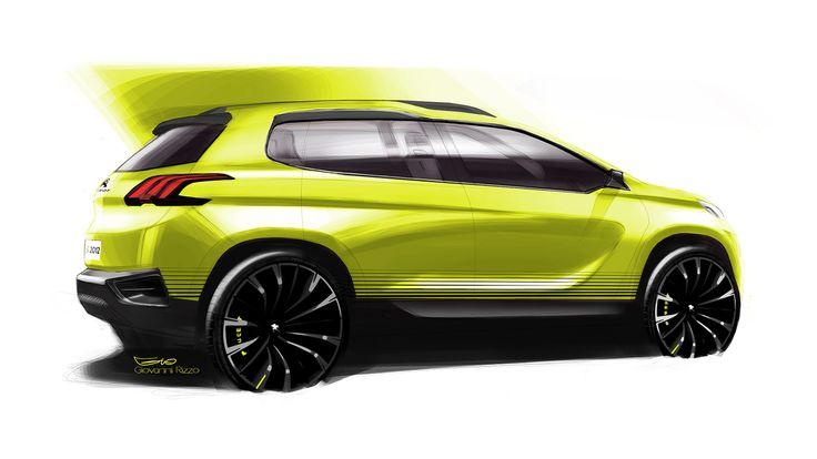 Peugeot 2008 Concept - Design Sketch