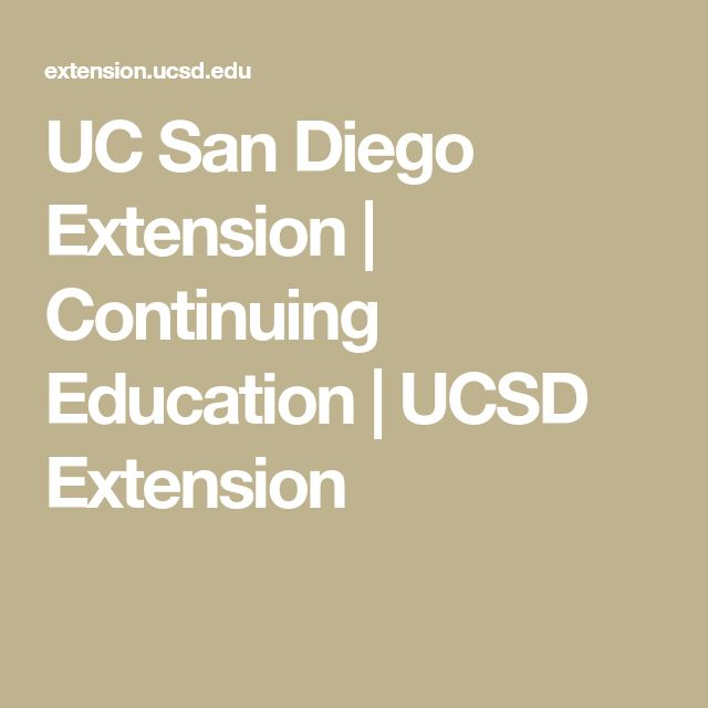 UC San Diego Extension | Continuing Education | UCSD Extension