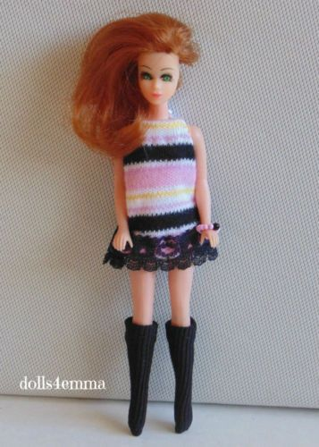 *GO-GO STRIPES* - Dress, Boots and Bracelet for Dawn and friends: on ebay and Etsy - by dolls4emma
