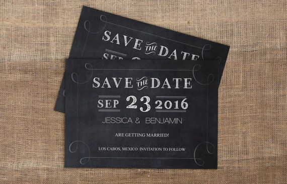 Editable PDF Wedding Save-the-Date  by GraphicArtDesign on Etsy