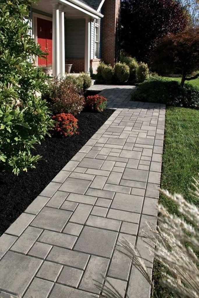 38 Awesome Walkway Design Ideas For Front Yard Landscape Walkwaydesignideas Frontyardlandscape Frontyard Walkway Landscaping Hardscape Design Walkways Paths