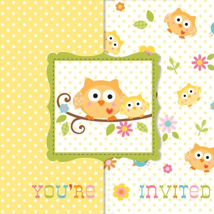 Happi Tree Invitation Diecut (includes 8 invites in a pack)