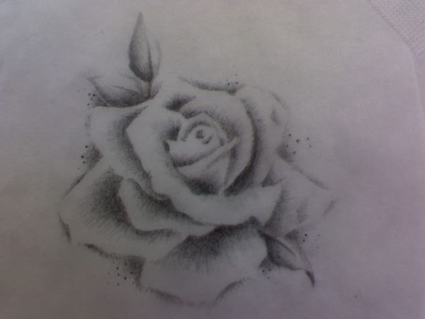 no outline rose sketch ... possible tattoo idea