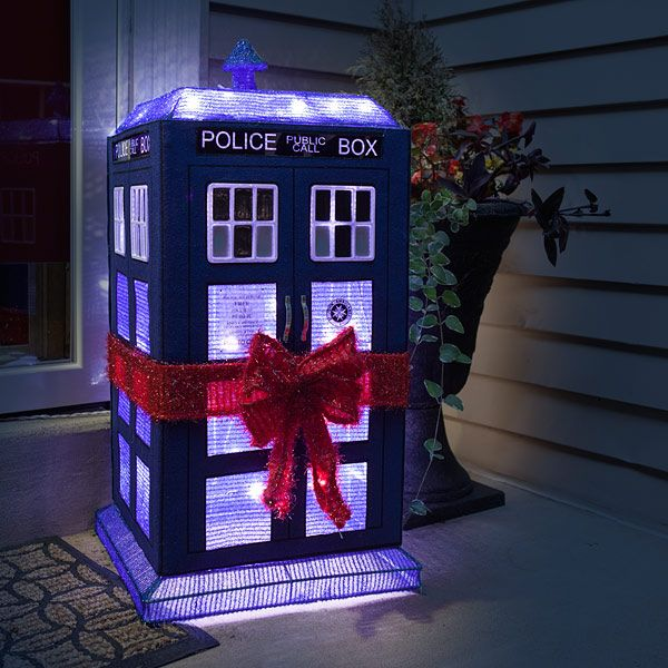 Doctor Who 3D Lighted TARDIS Lawn Decor | ThinkGeek Doctor Who | Pinterest  | Doctor Who, Tardis and Doctor who christmas - Doctor Who 3D Lighted TARDIS Lawn Decor ThinkGeek Doctor Who