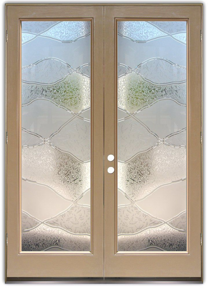 24 best patterned glass doors images on pinterest glass for Double doors with glass