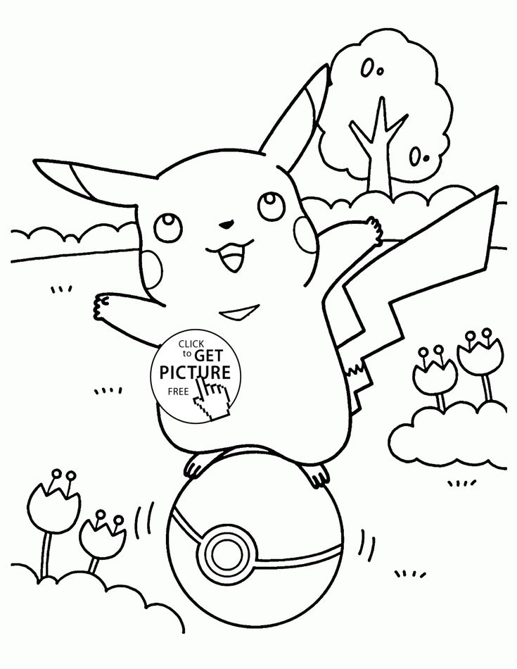 Pikachu pokemon coloring pages for kids pokemon characters printables free wuppsy com