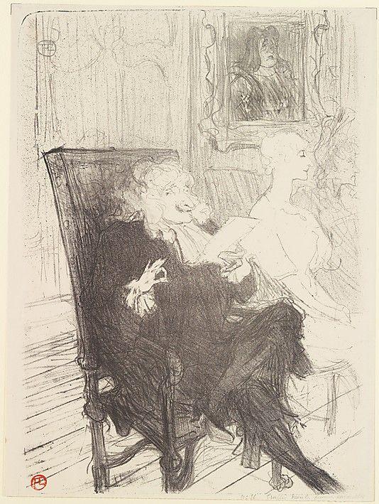 Truffier and Moreno, in Les Femmes Savantes - Henri de Toulouse-Lautrec - 1893