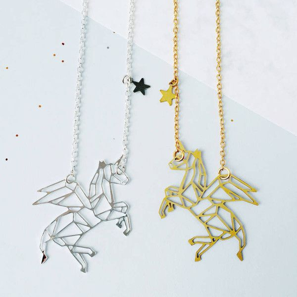 Eclectic Eccentricity Unicorn Constellation Necklace (190 SEK) ❤ liked on Polyvore featuring jewelry, necklaces, eclectic eccentricity, mini necklace, unicorn necklace and unicorn jewelry