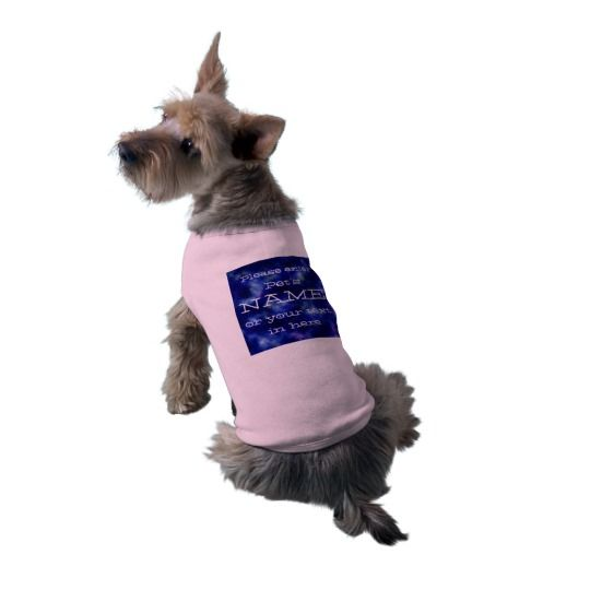 Pet's name or your text on blue cosmos customized shirt