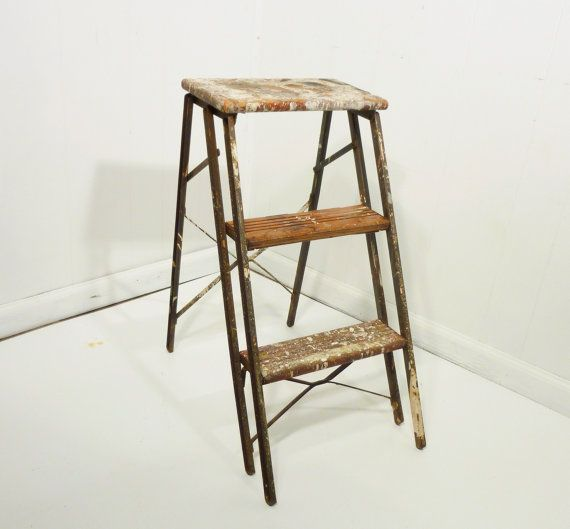 Small Metal Step Stool I Picked Up This Vintage Metal Step