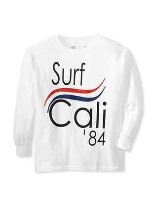 64% OFF Little Dilascia Kid's Surf Cali Long Sleeve Tee (White)