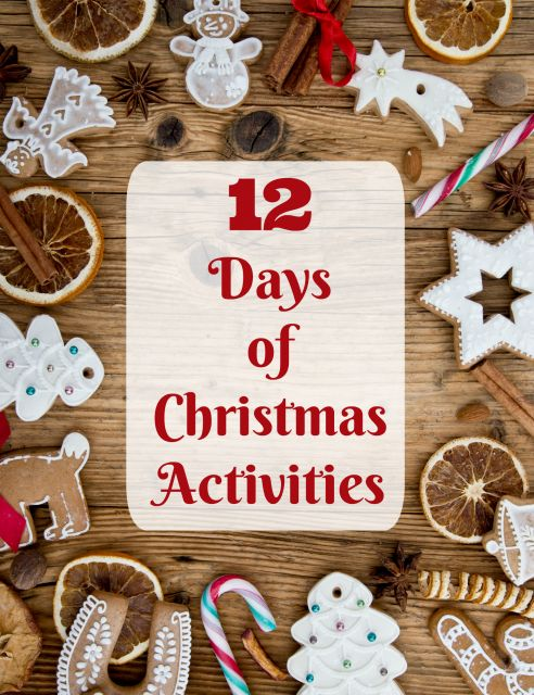 12 Days of Christmas printable Activities | DIY custom countdown for the 12 days before or after Christmas!