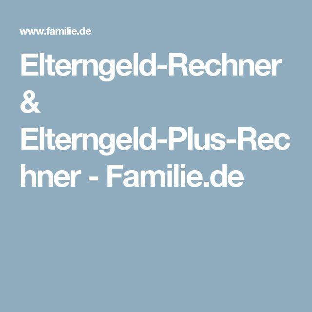 Elterngeld-Rechner & Elterngeld-Plus-Rechner - Familie.de