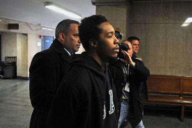 James Dixon, 25, was charged on March 3, 2015 with killing Islan Nettles. He is pictured heading to be arraigned on the indictment in Manhattan Criminal Court. On April 4, he pleaded guilty to the crime.