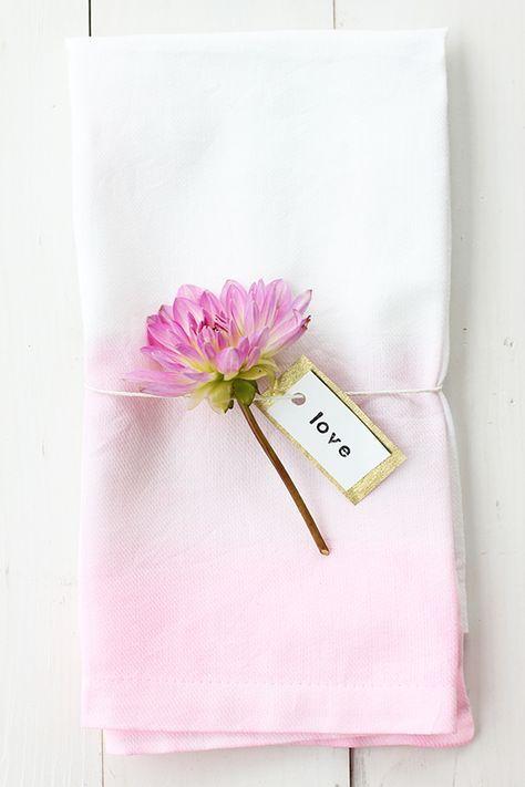 DIY: Watercolor Cloth Napkins