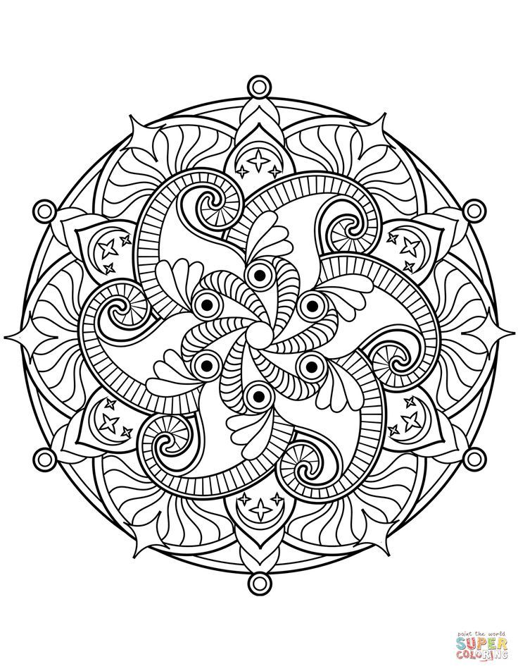 Flower Mandala Coloring Page Free Printable Coloring Pages Mandala Coloring Mandala Printable Mandala Coloring Pages