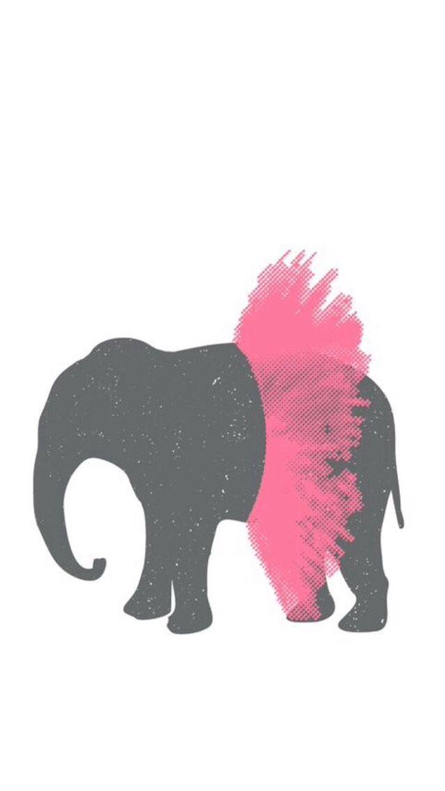 Elephant in a tutu iPhone 5 wallpaper