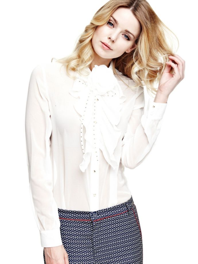 EUR89.90$  Watch now - http://vibcw.justgood.pw/vig/item.php?t=k9wzks538161 - SHIRT WITH FLOWER AND RUFFLE
