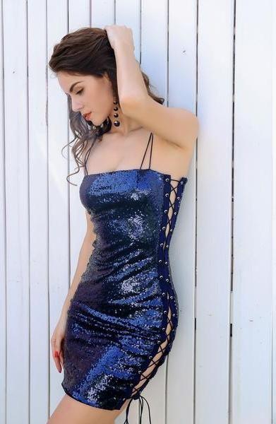 Slash Neck Sleeveless Dress