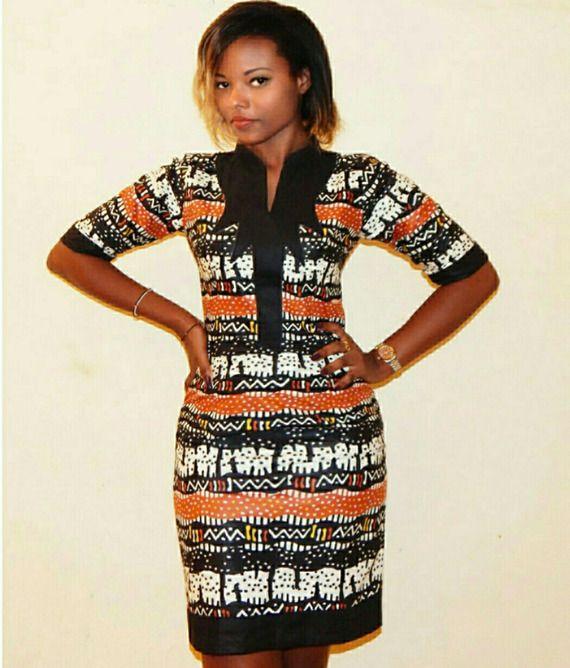 la petite robe ethnique en coton imprimé