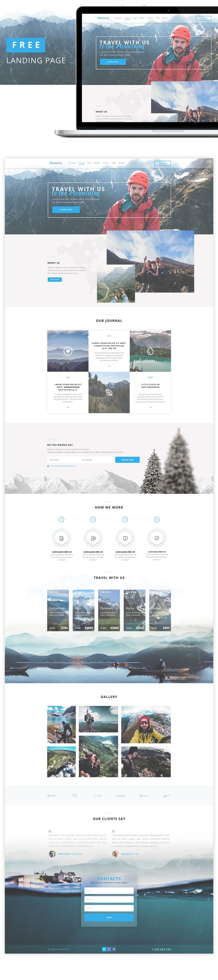 https://www.behance.net/gallery/27999261/Mountains-Landing-Page-FREE-(psd)
