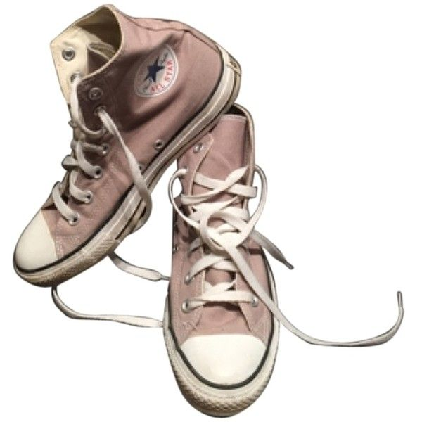 Converse High-tops Light Brown Athletic Shoes (320 HRK) ❤ liked on Polyvore featuring shoes, sneakers, converse shoes, converse high tops, converse footwear, high top shoes and high top trainers
