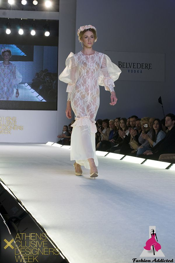 Stavrianna Georgiadi - Lace Jumpsuit with bubble sleeves