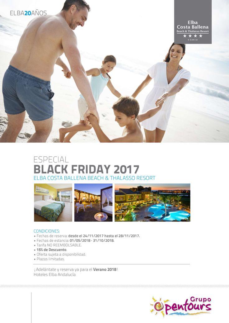 Hotel Elba Costa Ballena  (Cosa Ballena, Cádiz) --- Especial BLACK FRIDAY ------ 15% descuento --- Reservas del 24 al 28 de Noviembre, para estancias del 01 de Mayo al 31 de Octubre de 2018 --- Más info y condiciones de esta oferta en www.opentours.es --- #elbacostaballena #costaballena #rota #cadiz #costadelaluz #andalucia #blackfriday #verano2018 #paquetes #escapadas #ofertas #hoteles #agentesdeviajes #agenciasdeviajes #opentours #grupoopentours