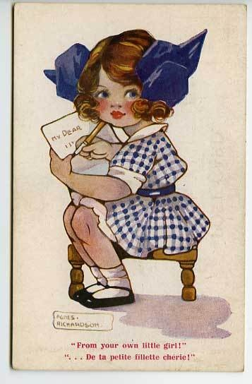 Agnes Richardson Postcard EBay Childrenvintage